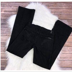 7FAM Jeans boot cut gun embellished 24 black pants